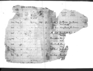 Badly Damaged Grenada Baptism Records